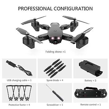 Garciasia L107 RC Drone plegable 720P Flujo óptico WIFI Cámara ...