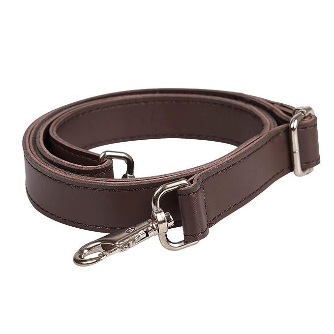 Correa de hombro de piel universal con ganchos giratorios para hombro accesorios de correas para bolso de piel cruzada, maletín, bandolera, bolsa, ...