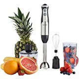 800W 3-in-1 Hand Blender Food Processor Mixer Bowl Egg Whisk & Beaker