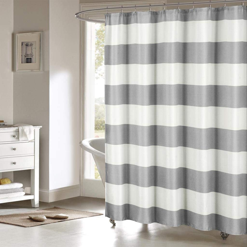 Mildew Resistant Water-repellent Fabric Nautical Shower Curtain Washable