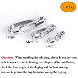 IVIA Dog Tag Clips / 2 Pack/Multiple Size 304