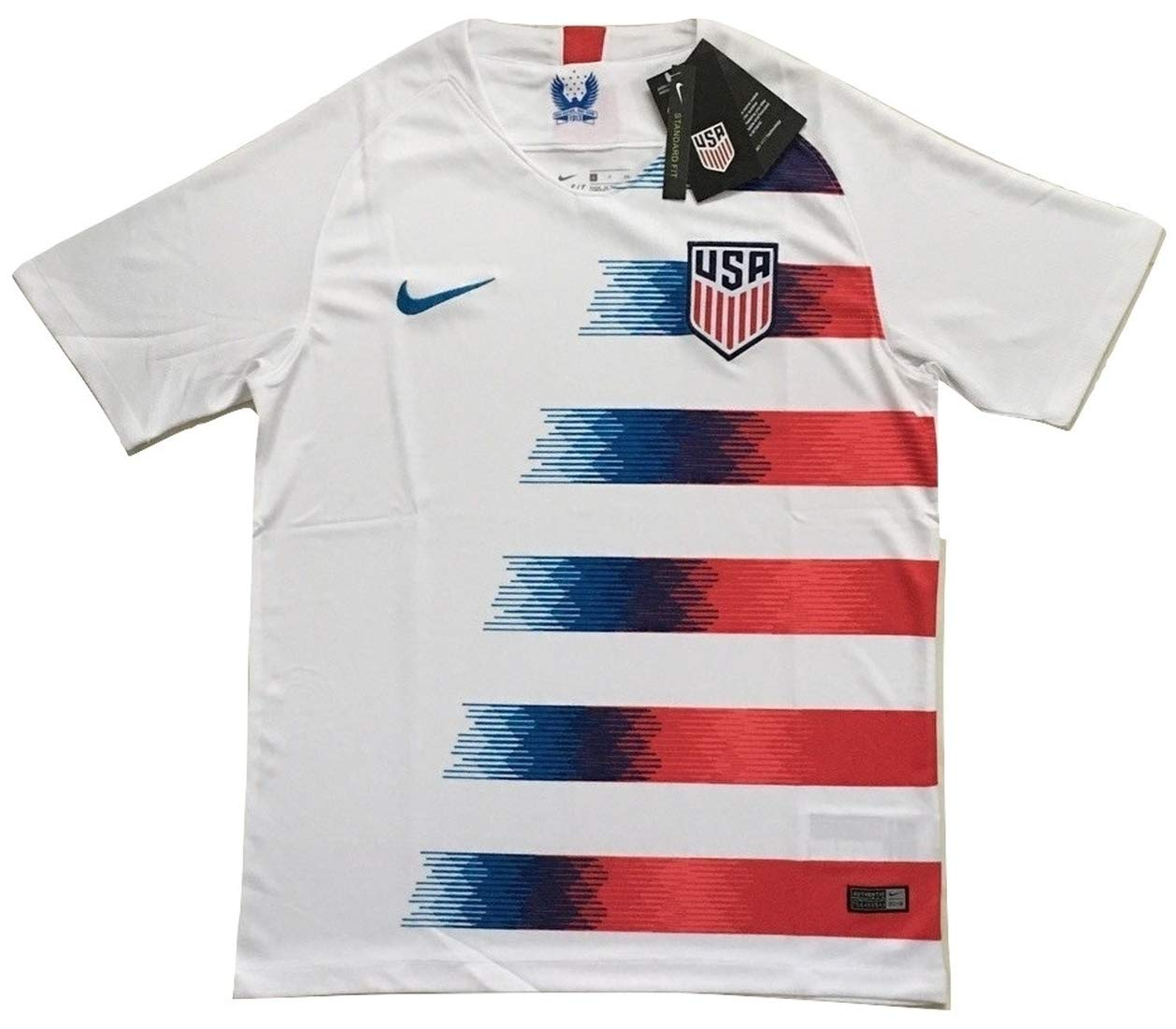 Enevva Men's USA National Team 2018-2019 Home Soccer Jersey White (Men's Large) by Enevva (Image #1)