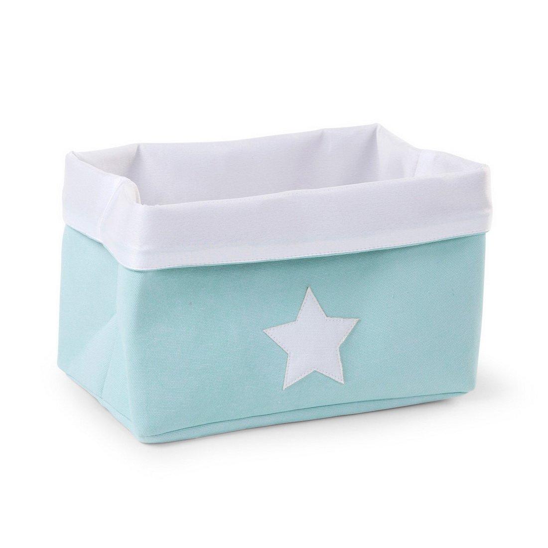 Childhome- Faltbare Aufbewahrungsbox Dekoartikel Kinderzimmer Mit Sternprint, 32X20X20cm, Mint erdbeerloft