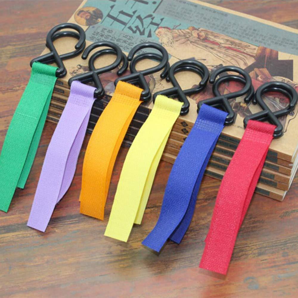 6 Farben WENTS Kinderwagen-haken 6 St/ück buggy-haken Taschenhaken Befestigen Sie Ihre Einkaufst/üten Taschen sicher am Kinderwagen Universale Passform