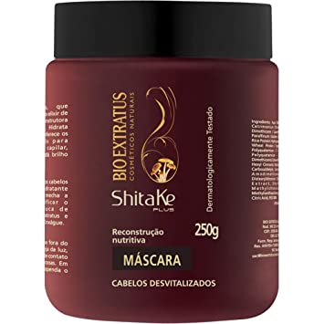 Linha Shitake (Reconstrucao Nutritiva) Bio Extratus - Mascara Hidratacao Nutritiva 250 Gr - (