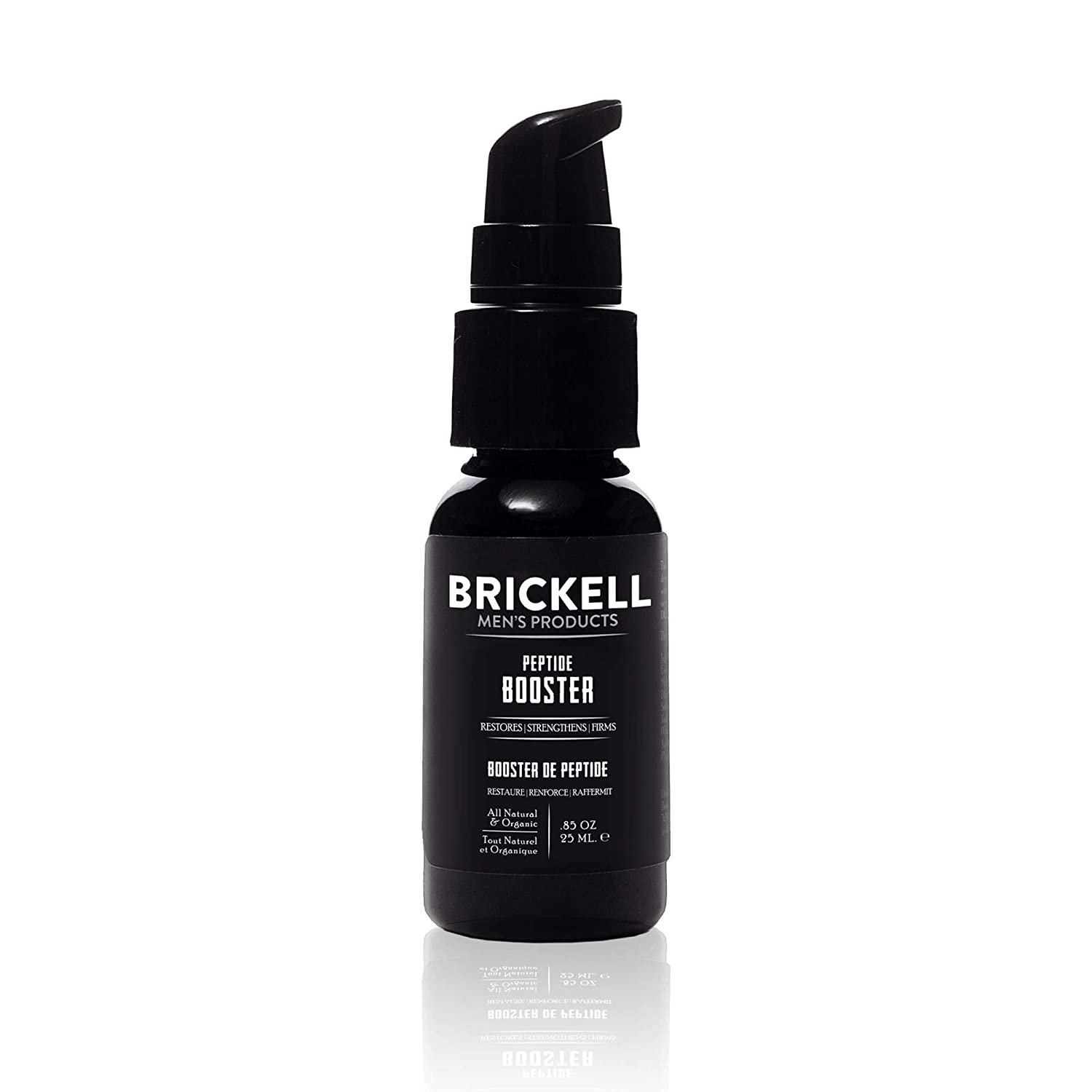Brickell Men's Protein Peptides Booster for Men, Natural and Organic Protein Peptides Booster for Face to Firm and Restore Skin, Boost Collagen Production and Fight Aging.85 oz, Unscented