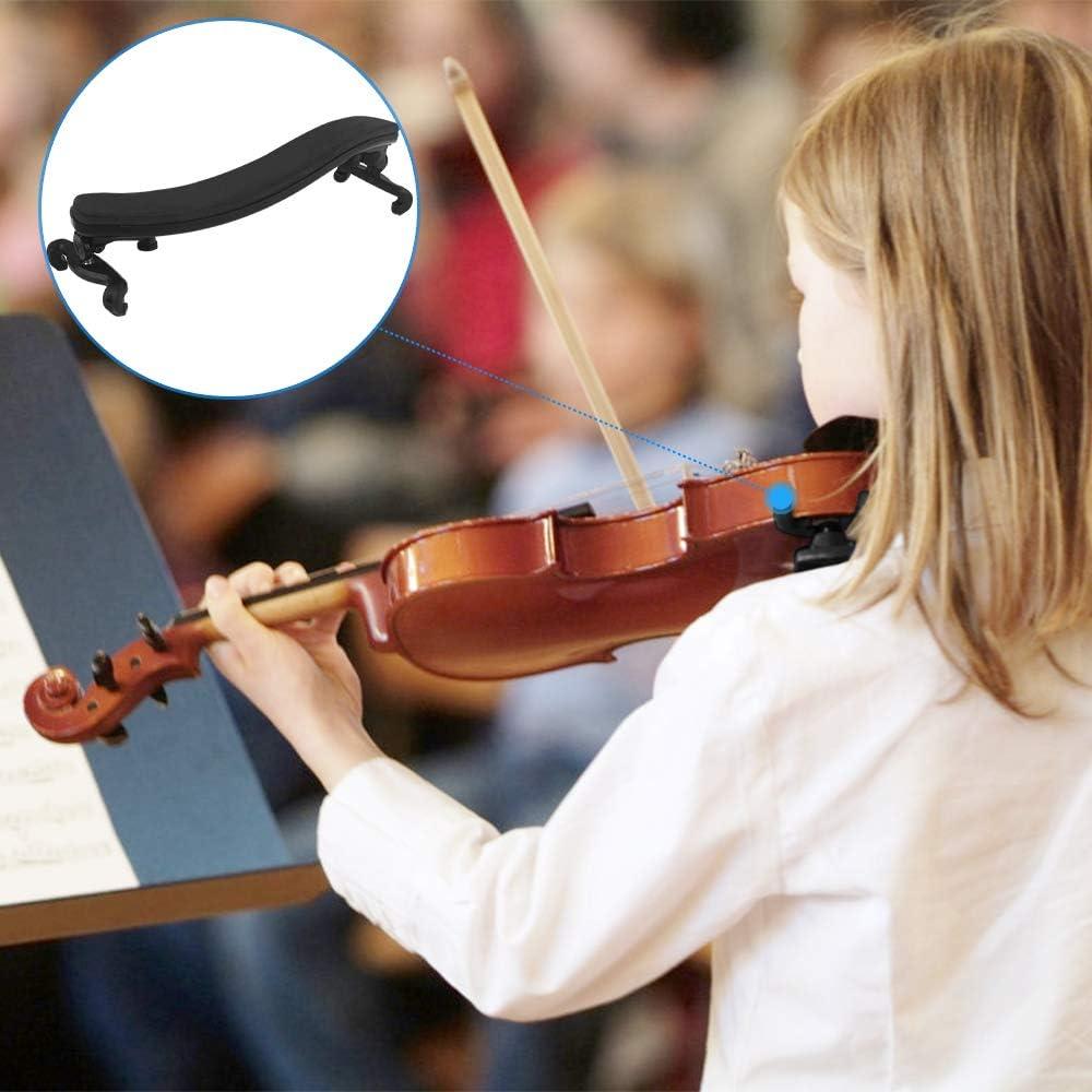 /Épaule de Violon Noir pour les D/ébutants Professionnels Enfants et Adultes 2 Pcs Support d/épaule Violin Convient /à Violon 3//4 4//4 /Épauli/ère de Violon