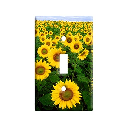 Field of Sunflowers - Plastic Wall Decor Toggle Light Switch Plate ...