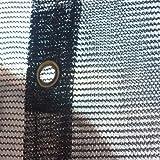 FJYW Premium 70% Sun Shade Cloth, 10 x 100'/7 oz, Black