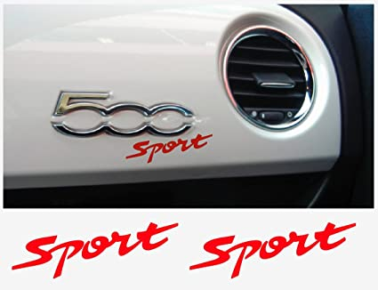 Amazon.com: Fiat 500 ABARTH SPORT dashboard decal 2 pcs. (red ... on fiat rims, fiat cars models, fiat sports car, fiat aircraft two-seater, fiat with beats audio,
