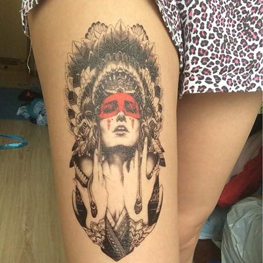 Handaxian 3 Piezas Nuevo Tatuaje Femenino Indio a Prueba de Agua ...