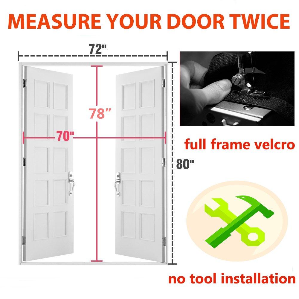 Zyettst 72 Quot W X 80 Quot H Magnetic Screen Door For French