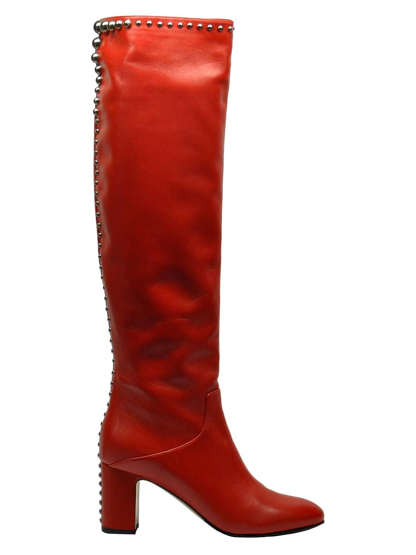 NINALILOU 282756rot Damen Rot Leder Stiefel