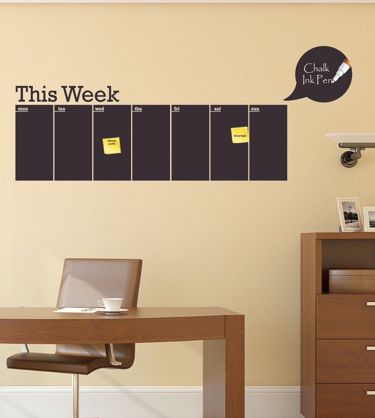 Amazon.com: Weekly Chalkboard Calendar - This Week Horizontal ...