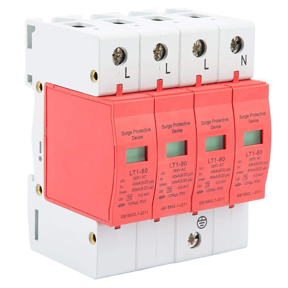 LT-40//80 385VAC 40-80KA Protecci/ón contra sobretensiones de la casa,Dispositivo de supresi/ón de Baja tensi/ón a Prueba de Fuego,PC Material ign/ífugo