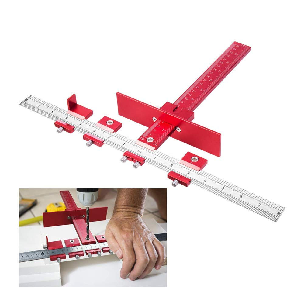 Detachable Hole Punch Jig Tool Drill Guide Sleeve Cabinet Hardware Wood Drilling Dowelling Hand Tool Sets (ABS) YUKAKI