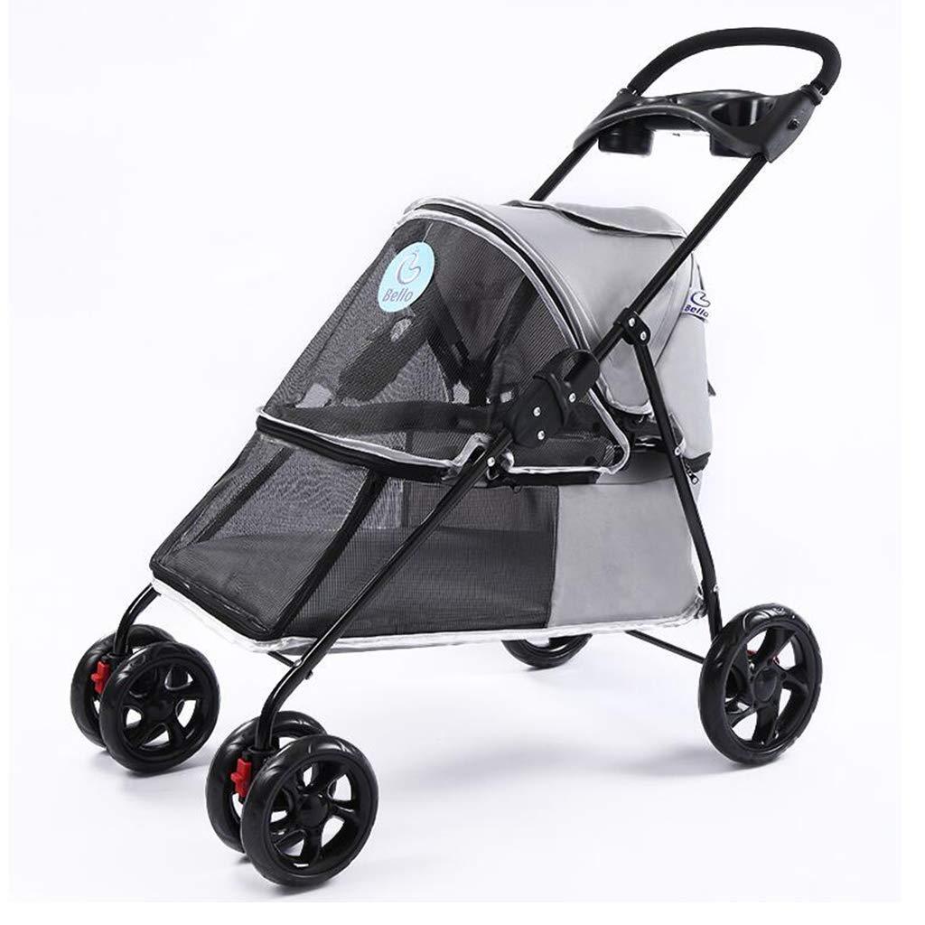 B Pet Stroller Can Fold Aluminum Alloy Stroller Sunscreen Rainproof Outdoor Travel Car Load 15kg for EVA Tire Damping