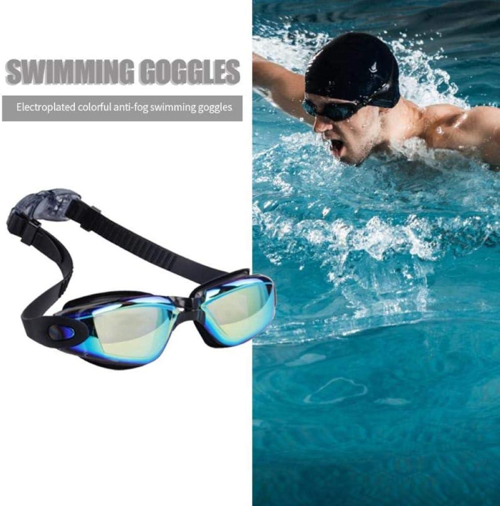 Lentes de galvanoplastia UV Protect Anti-fogging Gafas de natación Alta definición Impermeables Gafas de Colores