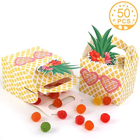 Amazon.com: AerWo 50 cajas de recuerdos de piña con gafas de ...