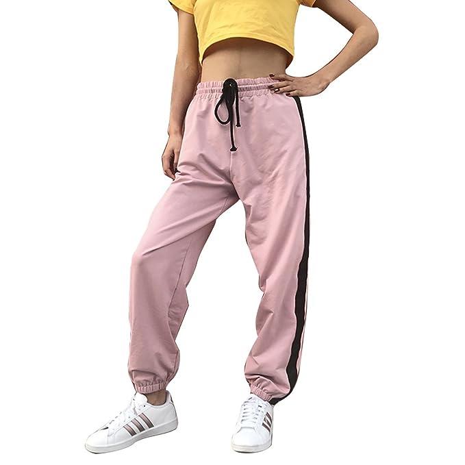Tujtyike Pantalones de chándal de Cintura Alta Pantalones de ...