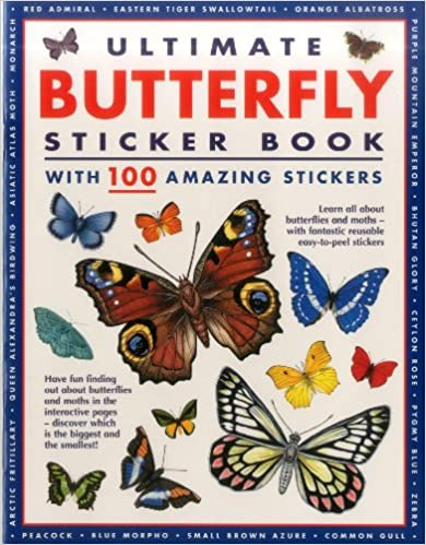 Ultimate Butterfly Sticker Book: With 100 Amazing Stickers Descargar Epub Gratis