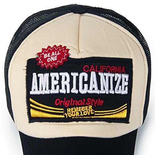 7cb0d1336 REDSHARKS Mesh Back Baseball Cap Trucker Hat 3D Embroidered Patch ...