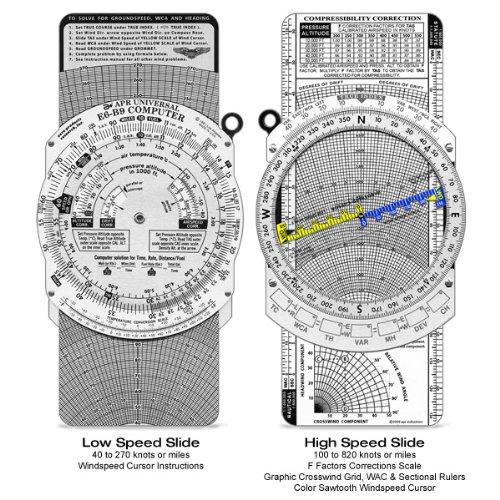 Nautical Slide Rule - E6-B Flight Computer (APR's Standard Series E6-B9WHL)