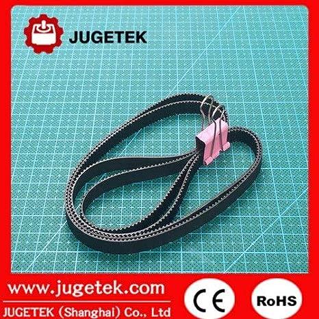 Fevas 500mm Length 250 Teeth 9mm Width Closed-Loop GT2 Timing Belt 500-2GT-9 Number of Pcs: 10pcs