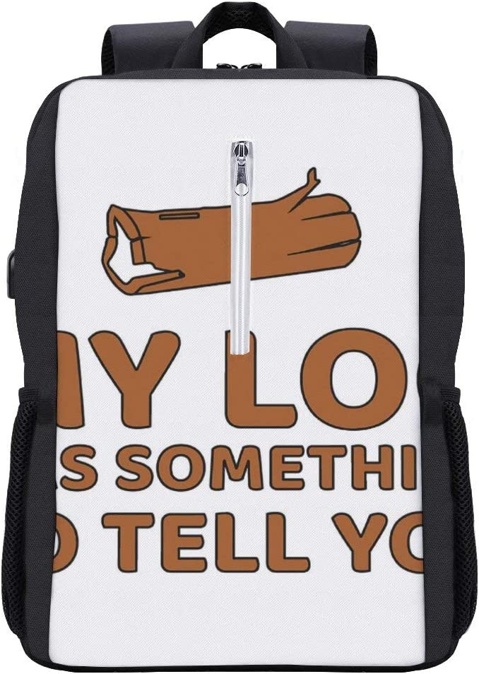 Twin Peaks My Log Backpack Daypack Bookbag Laptop School Bag with USB Charging Port