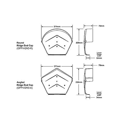 Manthorpe Universal Ambidextrous Dry Verge Gable Apex Roof Tile Plastic End Cap