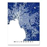 Melbourne Map Print, Australia, City Street Art Maps