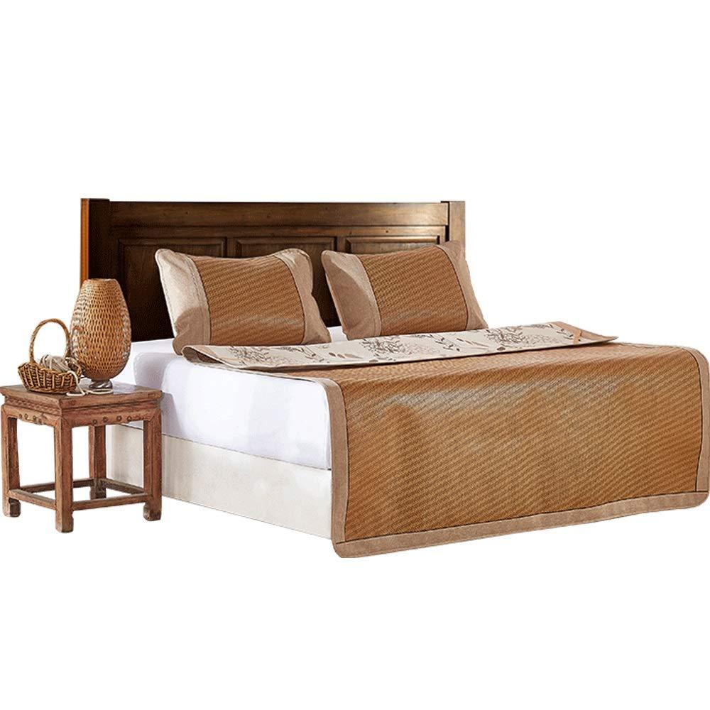 YONG FEI Rattan-Kühlmatte - Klimaanlage für den Hausgebrauch mit Klimaanlage, in DREI Größen erhältlich Sommer-Schlafmatte (größe   90X195cm)  120X195cm