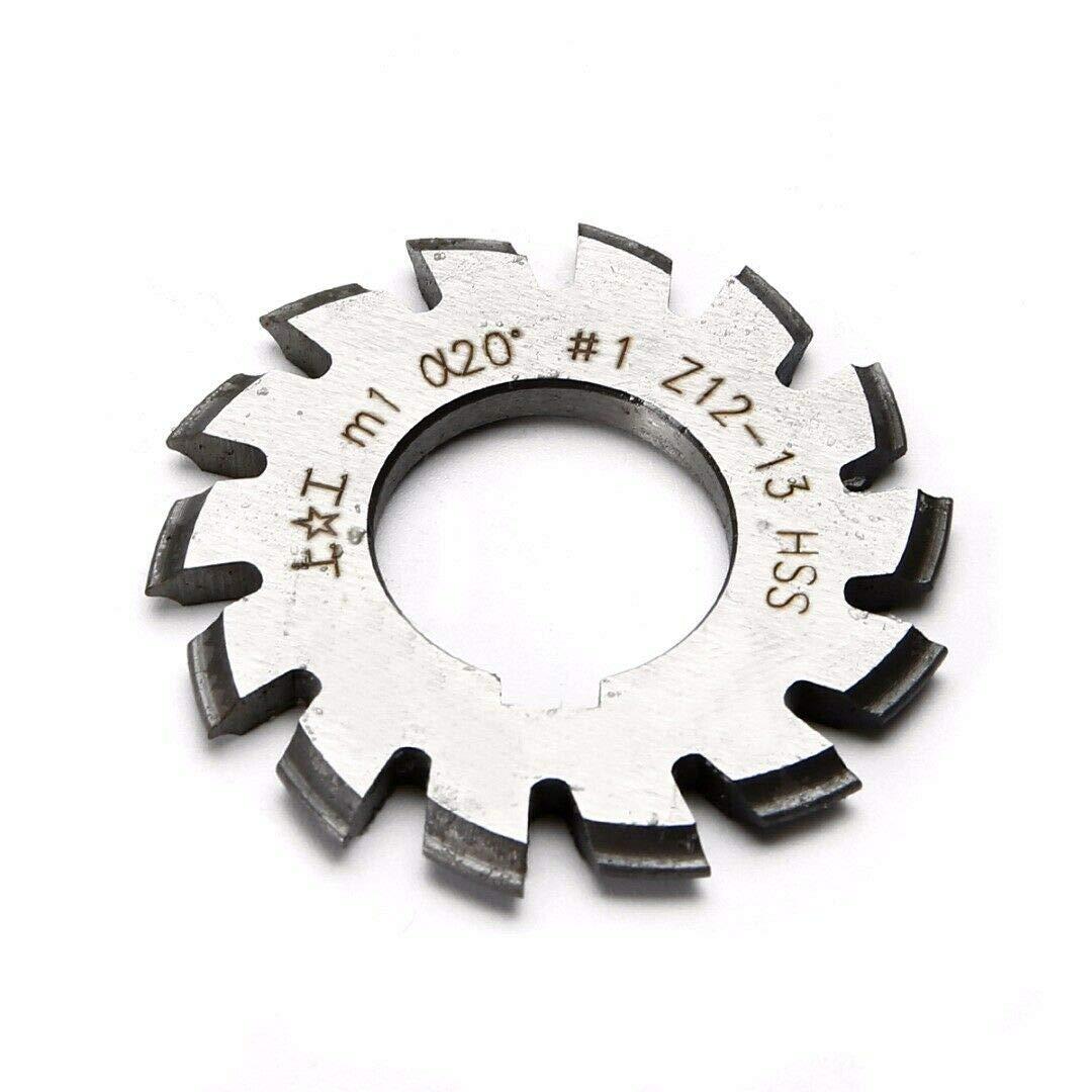 8Pcs//Set HSS M1.5 Bore 22mm 20°Degree #1-8 Bevel Involute Gear Cutter Module 1.5