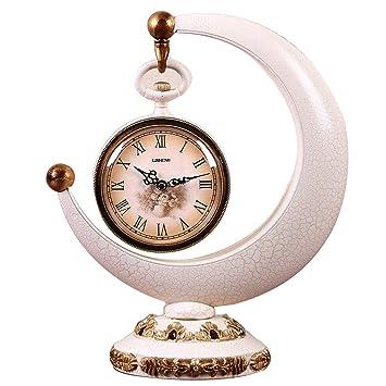 HONGNA Reloj De Plástico Europeo Adornos De La Sala De Estar Relojes Para El Hogar Relojes De Sobremesa ...