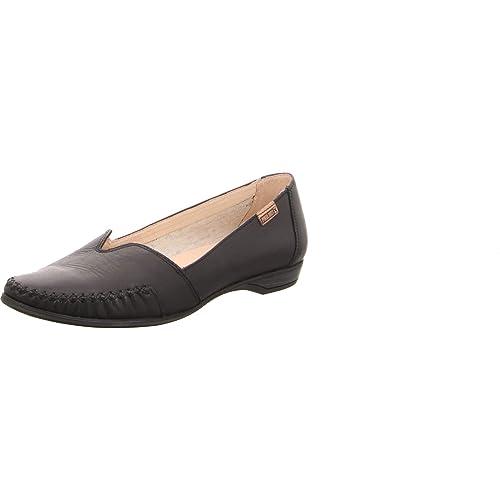 Pikolinos W0s-4681 Black - Mocasines de Piel Lisa Para Mujer, Color Negro, Talla 35 EU: Amazon.es: Zapatos y complementos