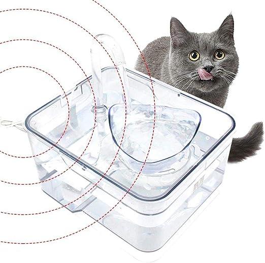 VERLOCO Bebedero Automático para Perros Y Gatos Filtro De Agua para Mascotas DC5V, Interruptor De Sensor Infrarrojo Inteligente/Filtro De Profundidad: Amazon.es: Productos para mascotas