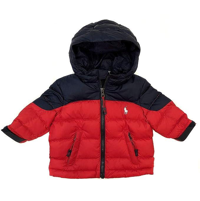 c81ebd987 Ralph Lauren New Baby Boys Navy Blue/Red Puffer Jacket Coat (6 Months):  Amazon.co.uk: Clothing