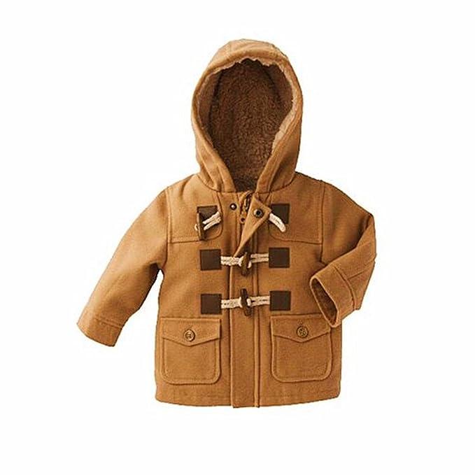 8c6a35ec5278 Amazon.com  VANGULL Baby Boys Grils Child Horn Pea Button Hood ...