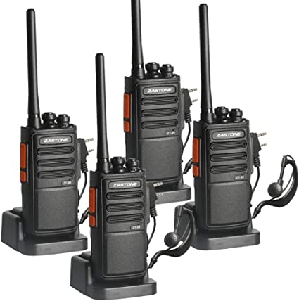 Li-ion Battery and Charger Included,Long Range Two-Way Radios with Earpiece Zastone ZT-99 Rechargeable Walkie Talkies,UHF 400-470Mhz 8Pack