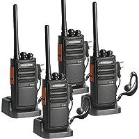 Zastone ZT-99 Walkie Talkies recargable, UHF 400-470Mhz, batería de ion de litio y cargador incluidos, radios…