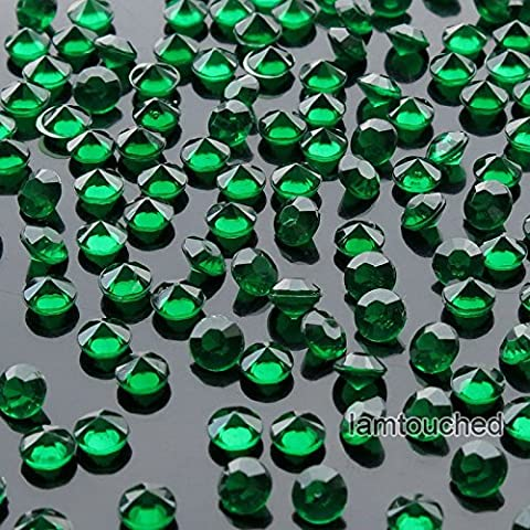 2,000 pcs 4.5mm Diamond Table Confetti Acrylic Wedding Party Decor Crystals Vase Filler Emerald - Nba Jazz Lamp