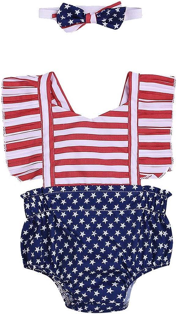 Bambina Bambine Ragazza Ragazzi Pagliaccetto A Strisce Bodysuit Abiti Body Pagliaccetto Tuta Set di Vestiti Set Outfit VICGREY