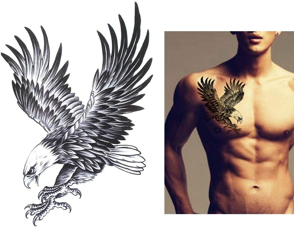 UNISEX TATUAJES Tatuajes temporales tatuaje hb105 águila para el ...