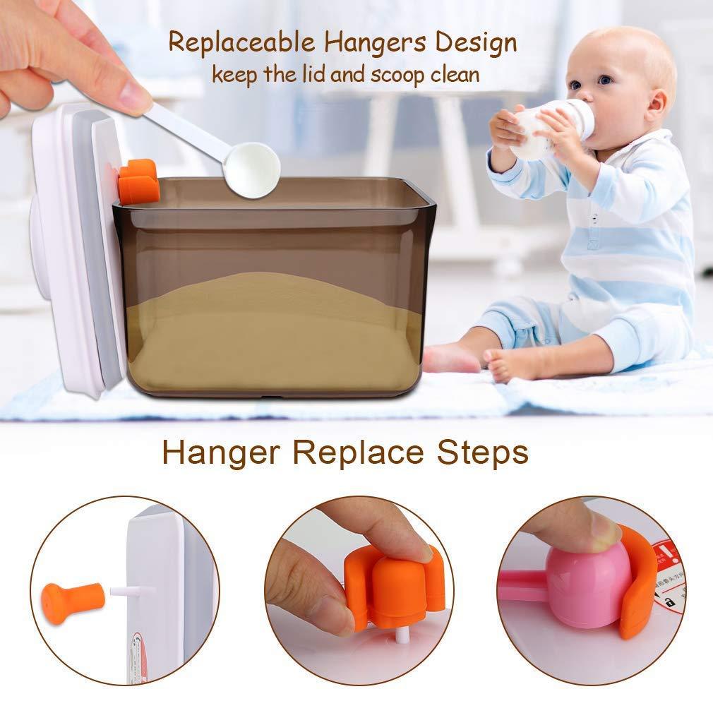 Kangcheng Baby Milk Formula Dispenser Contenedor de almacenamiento de alimentos Anti-UV BPA Free Formula Powder Pots Jug con tapa de pl/ástico y Nivelador-Rect/ángulo