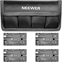 Neewer 7.4V 2600mAh Replacement Li-ion Battery 4 Packs with Bag for Sony NP-F550/570/530,Fit Sony HandyCams,Neewer Nanguang CN-160/216/126 Series,Chromo Inc.Polaroid On-Camera LED Video Light and More