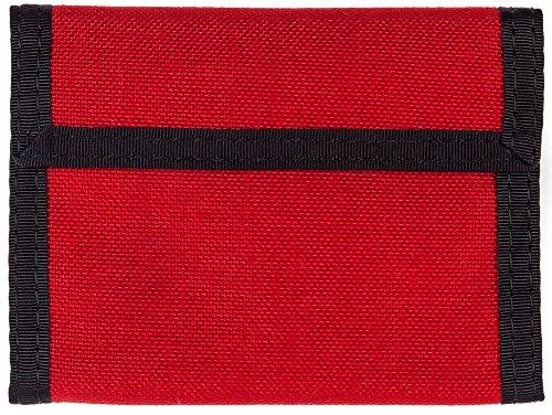Bifold Velcro Wallet - Red 1000 Denier Cordura Nylon (Nylon Wallet Velcro)