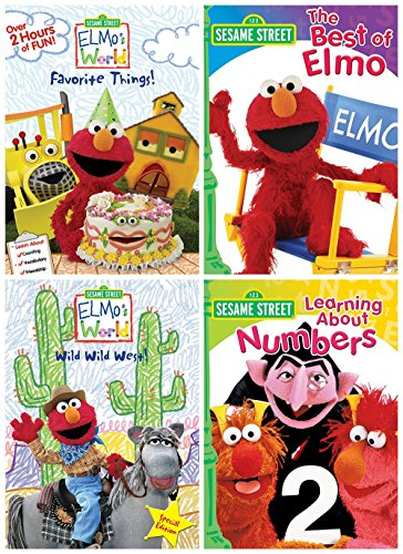 Sesame Street: Elmo's World: Elmo's Favorite Things/Elmo's World: Wild, Wild West/ Best of Elmo/Learning About Numbers (Dvd Elmo World)