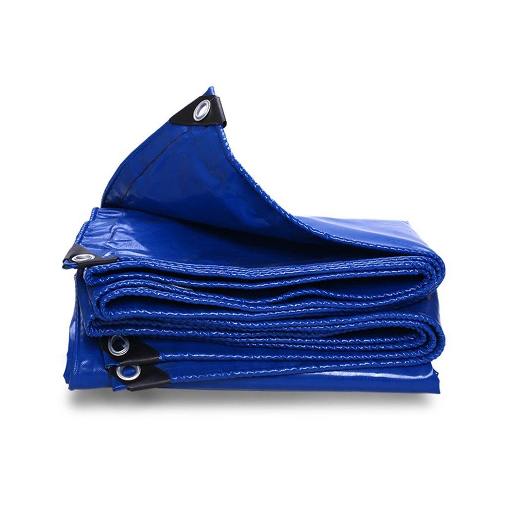 Zelt Zubehör Plane Planen-Regenstoff-Segeltuch-leistungsfähiger wasserdichter Sonnenschutz benutzt im Poncho-Familien-Camping-Garten draußen Schatten-Stoff-Linoleum, Stärke 0.45mm, 550g / m2, blau, 13