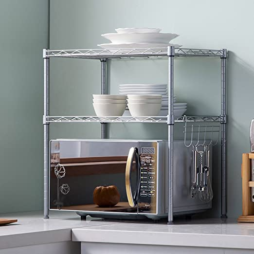 QFF Estante de 2 capas para microondas Estante para cocina/Estante ...