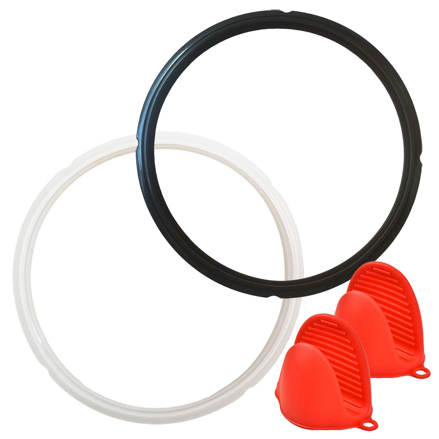 Nice-Components Silicone Sealing Ring for Crock-Pot and Mueller 6 Qt+ Free Silicone Oven Mitts, Sweet and Savory Edition Ring (SCCPPC600-V1)